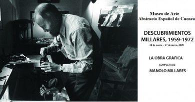 """Museo de Arte Abstracto Español de Cuenca. """"Descubrimientos Millares, 1959-1972""""."""